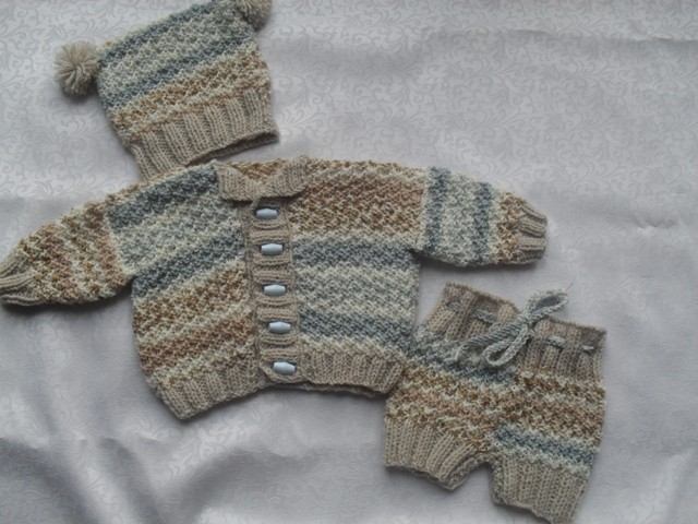 """NEW"" DREAMY BOY JACKET, HAT AND PANTS KNITTING PATTERN"