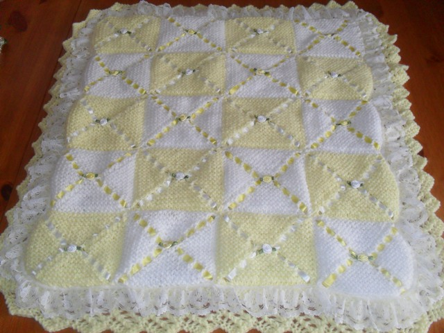 Knitting Pattern Baby Blanket Double Knitting : Nells Baby Knits